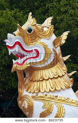 Dragon from Wat Phra Singh temple in Chiang Mai, Thailand