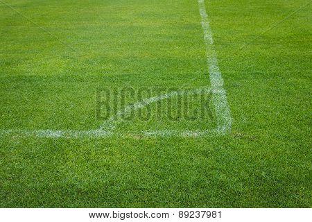 Corner Kick Of Soccer On Grass