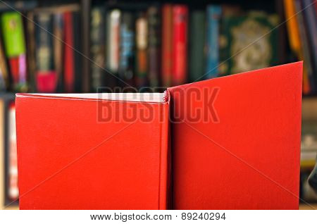 Book On Bookshelf Background