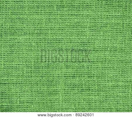 Bud green color burlap texture background