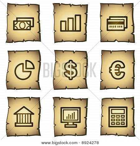 Finance Web Icons Papyrus Series