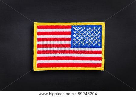 American flag on a dark background