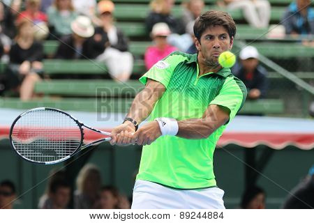 Fernando Verdasco high backhand at Kooyong TC