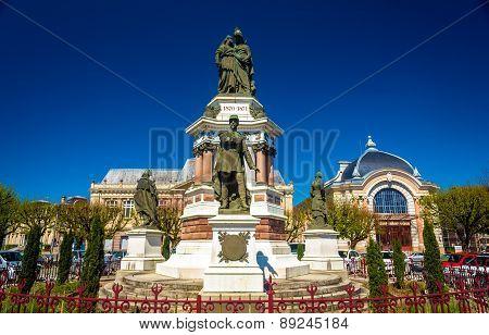Statue Of Colonel Denfert-rochereau In Belfort, France
