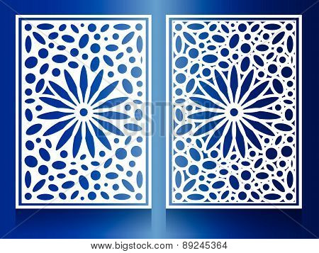window Steel white flower Combination of circles and ovals Background Pattern
