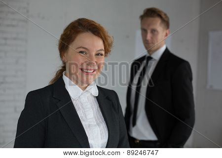 Two office workers