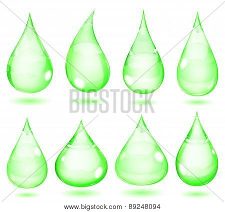 Opaque Green Drops