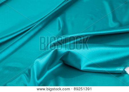 Blue silk texture.