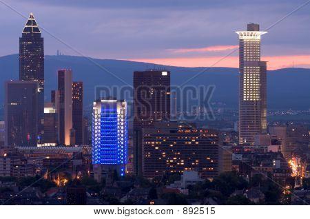 Frankfurt Messe At Sundown