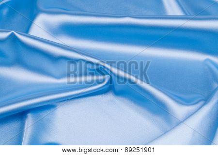 Close up of blue silk.
