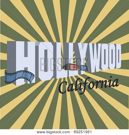 Vintage Touristic Greeting Card - Hollywood, California
