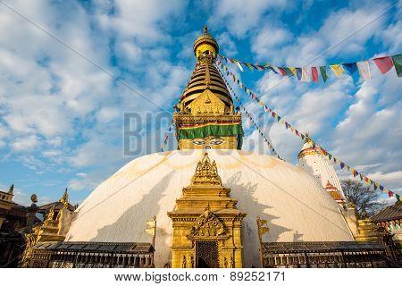 View Of Swayambhunath Kathmandu, Nepal
