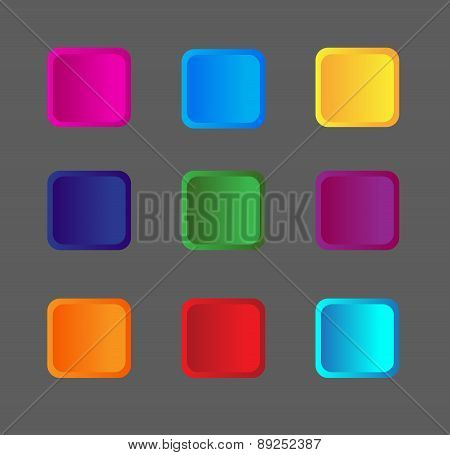Square Buttons In Color