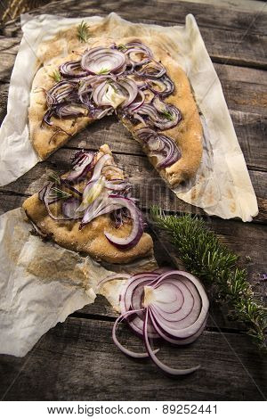 Focaccia With Red Onion