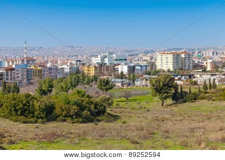 Izmir City, Turkey. Cityscape With Modern Buildings