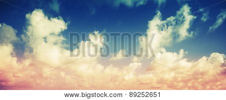 Colorful Cloudy Sky Panoramic Background
