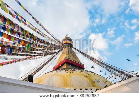 Boudhanath Is A Buddhist Stupa In Kathmandu, Nepal