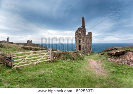 Wheal Owles On The Cornish Coast