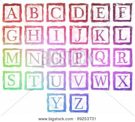 Alphabet Metal Stamp Letters Color