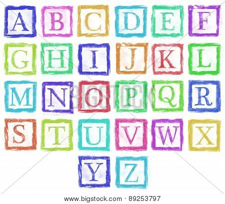 Alphabet Metal Stamp Letters Single Color