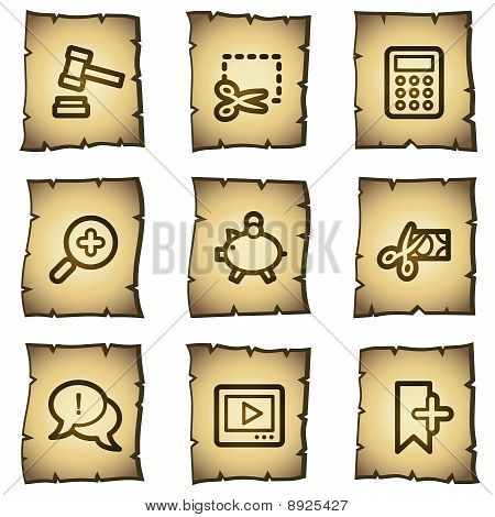 Shopping Web Icons Papyrus Series