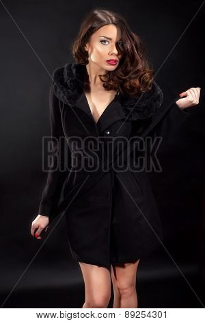 Sensual Brunette Lady Posing.