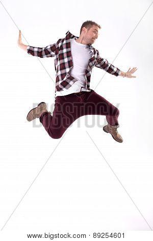 Young Man Dancing.