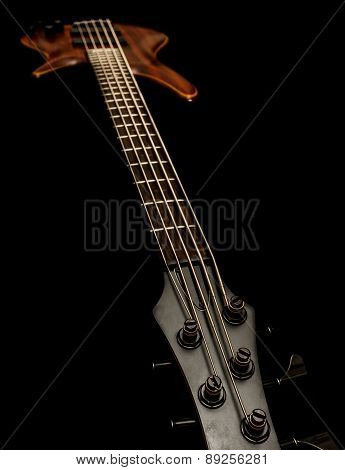 Bass guitar (low key, shallow depth of field)