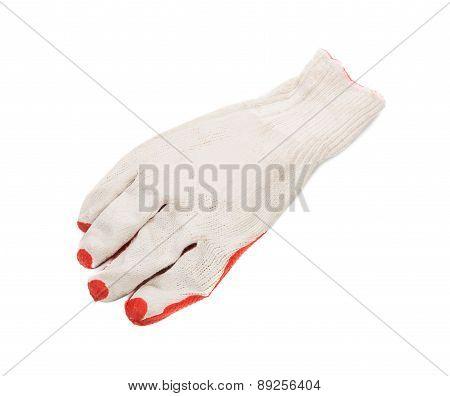 Construction gloves orange white.