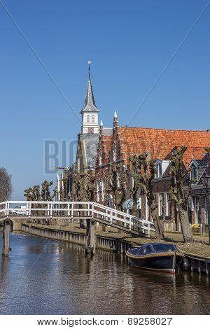 Bridge Across The Main Canal In Sloten