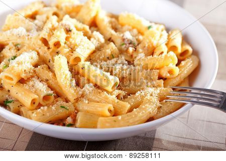 Penne With Tomatos And Parmesan Cheese