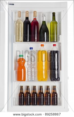 Drinks Inside Refrigerator