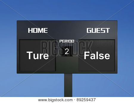 Ture False Scoreboard