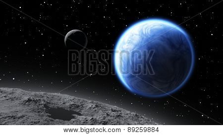 Two Moons Orbiting An Earth-like Planet