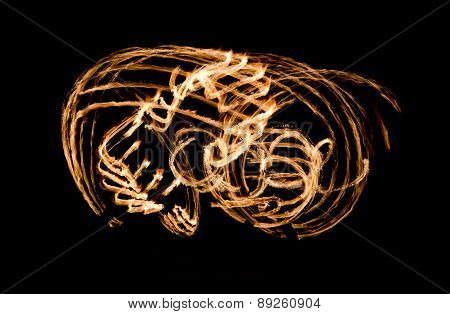 Fire Show Flaming Trails