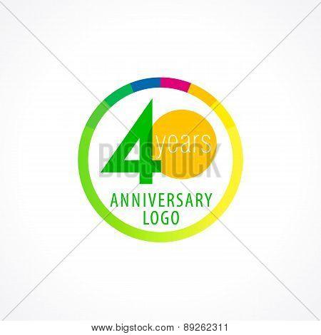 40 anniversary circle logo