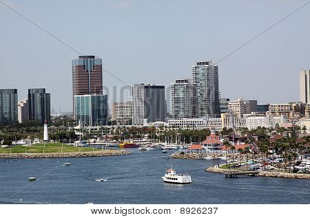 View of Long Beach Harbor