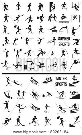 Winter And Summer Sports On The White
