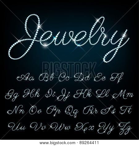 Vector jewelry alphabet.
