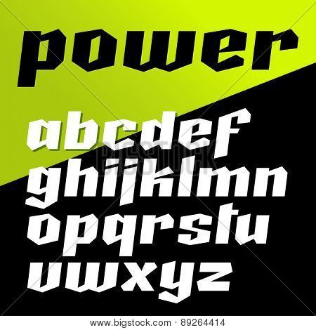 Vector strong font.