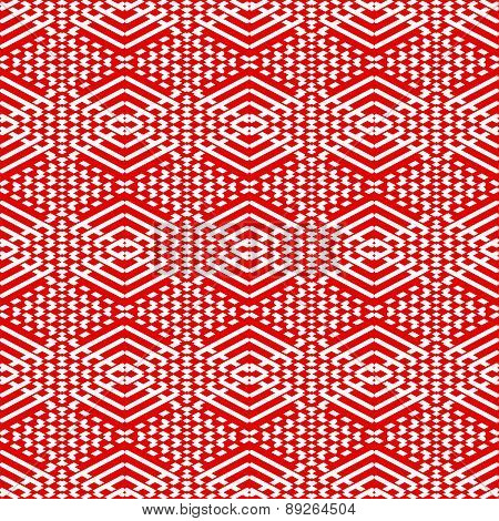 Tile red and white pattern or vector background wallpaper