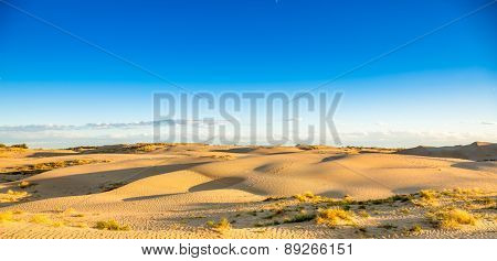 desert in sunset, west of china.