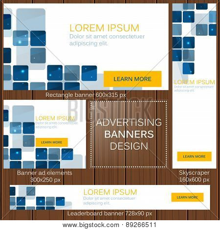 Advertising banners in different sizes for your web