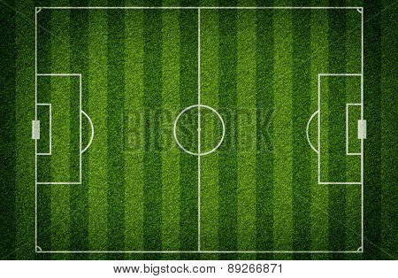 Football stadium with gates