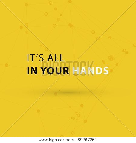 Inspirational Quote Vector Illustration Poster.