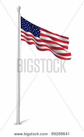 Usa Flag Vector Design