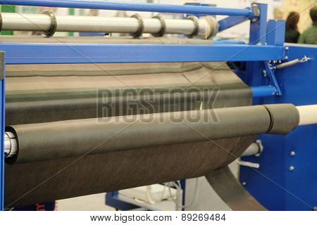 Production line in a textile industry