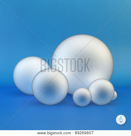 Spheres. 3D illustration. Can be used for info-graphics, presentations, graphic or website.