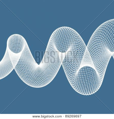 Spiral. 3d vector illustration. Can be used for marketing, website, print, presentation.