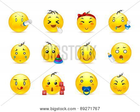Cute Kids Anime Smilies